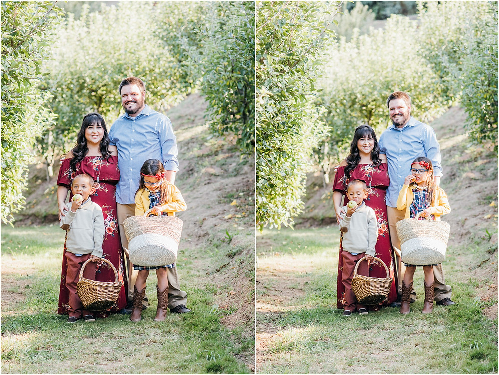 family portraits at an apple orchard in san jose