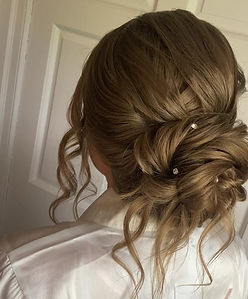 a simple and elegant bridal bun for my bride Katie on her wedding day.