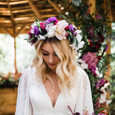 Hazlewood Castle - Boho bride