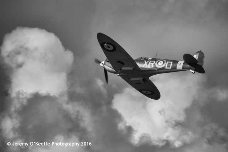 Spitfire 1A in flight