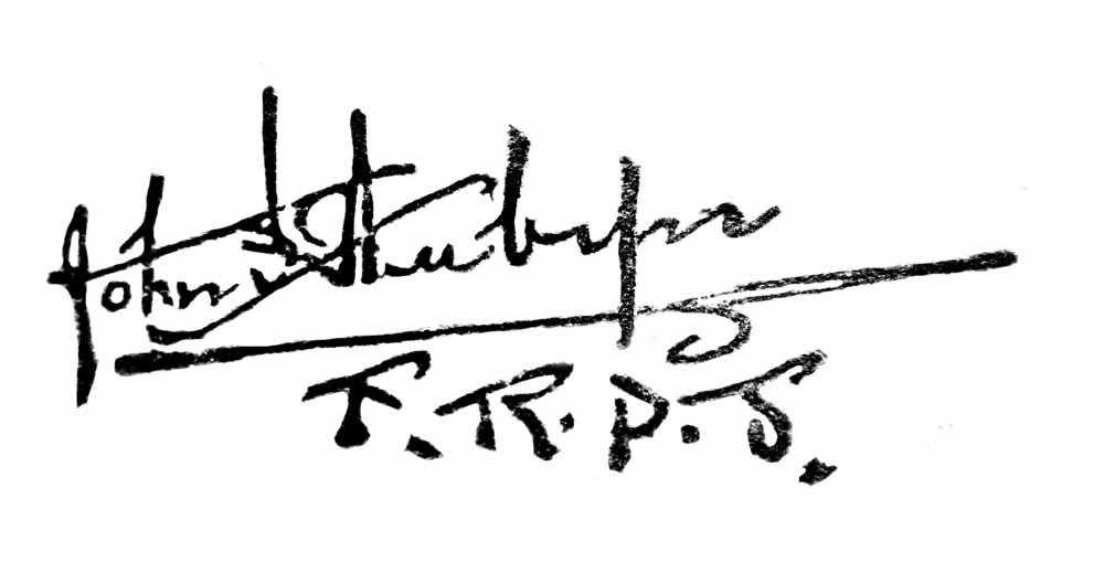 Signature of John St Aubyn FRPS