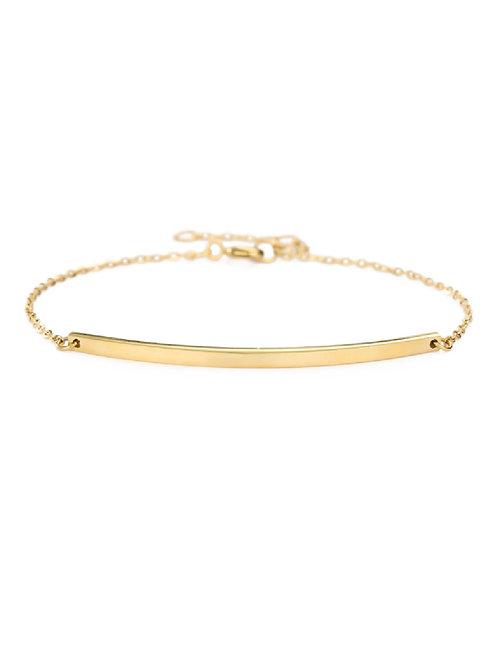Gold-Plated Bar Bracelet