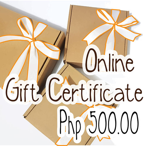 Php 500.00 Worth of Gift Certificate