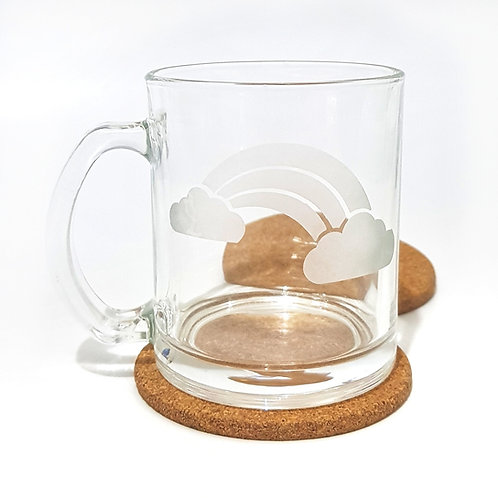 Glass Etched Mug