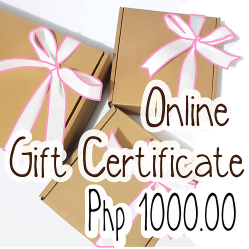 Php 1000.00 Worth of Gift Certificate