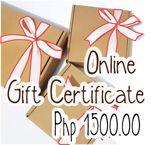 Php 1500.00 Worth of Gift Certificate