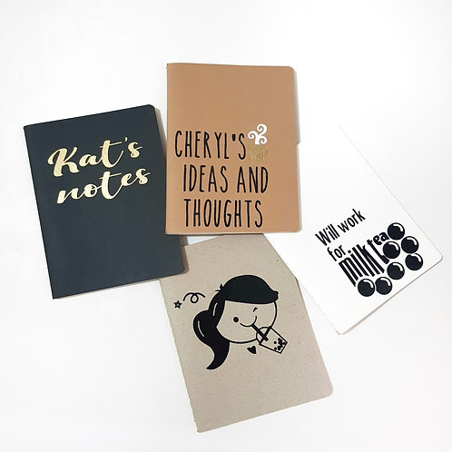 Small Personalized Notebooks