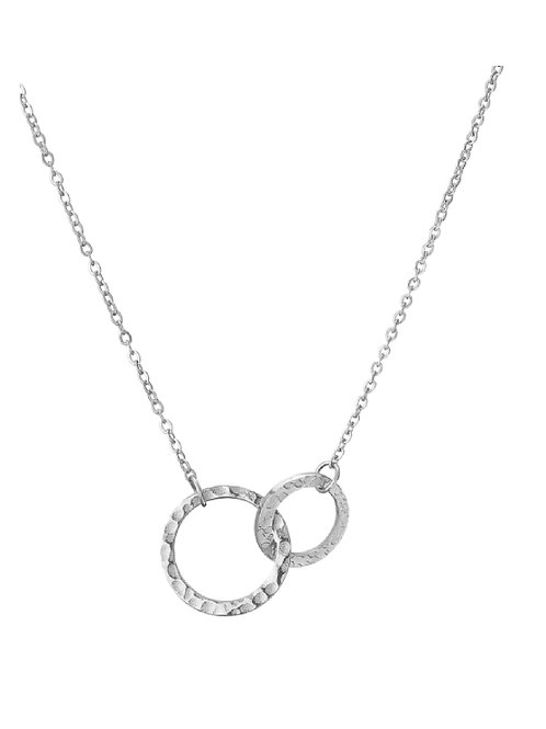 Silver Infinity Link Circles Necklace