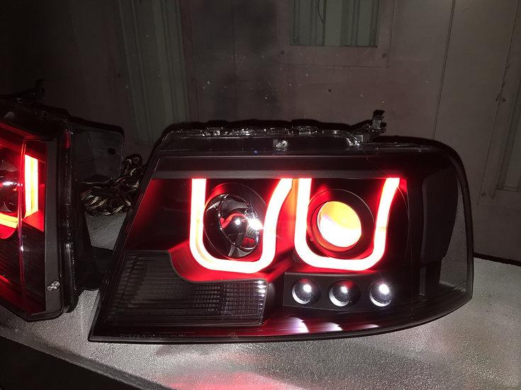 04-08 F-150 RGBW ANZO Headlights