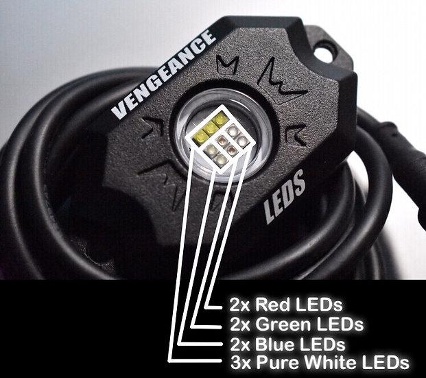 Premium 9 LED RGBW Rock Light Kit