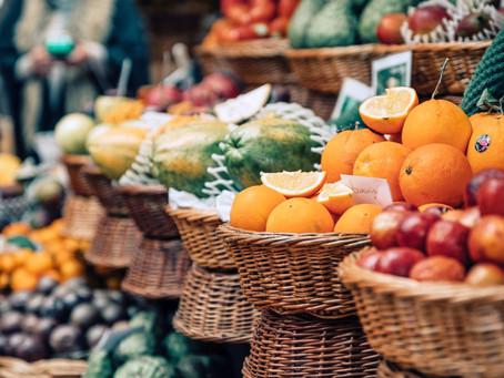 Frutas com atividades prebióticas.