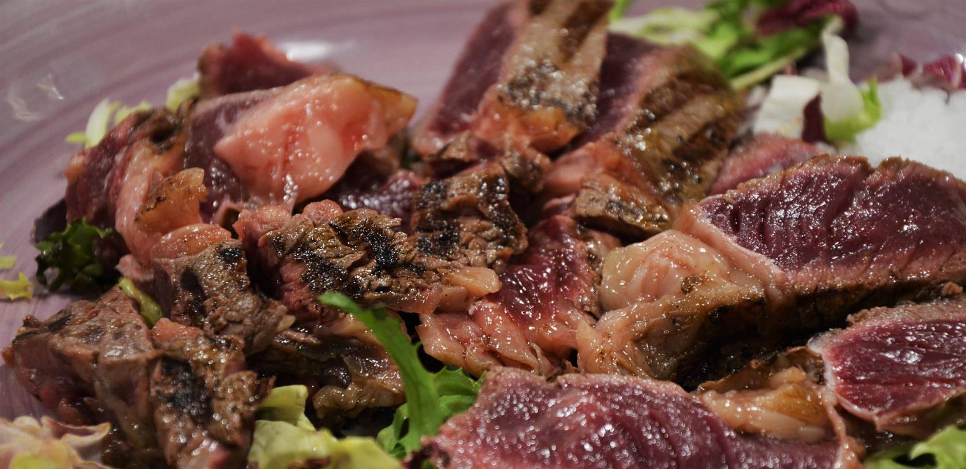 tagliata di carne danese #osteriadarbruttone