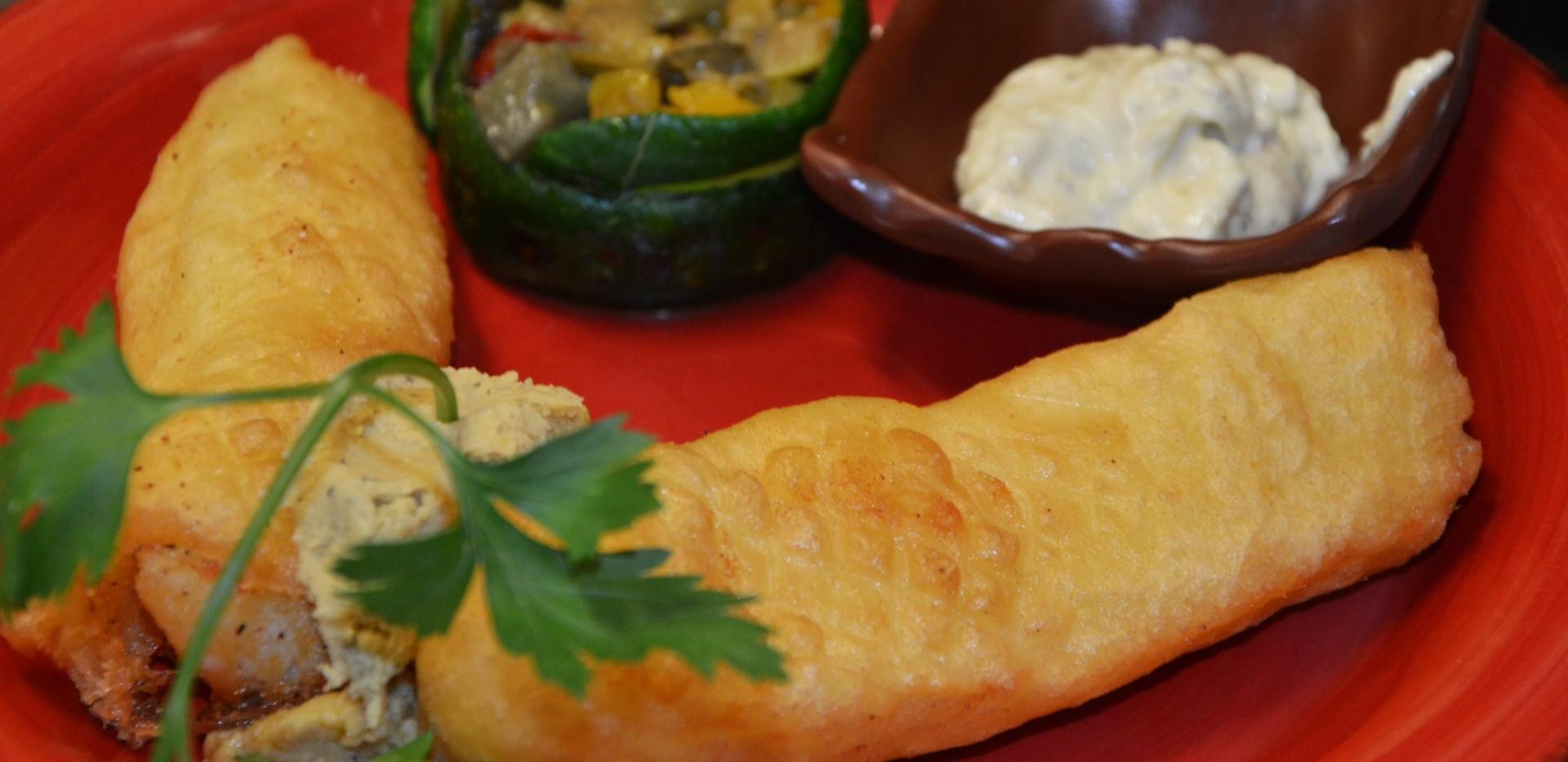 filettoni di baccalà con caponata di verdure #osteriadarbruttone