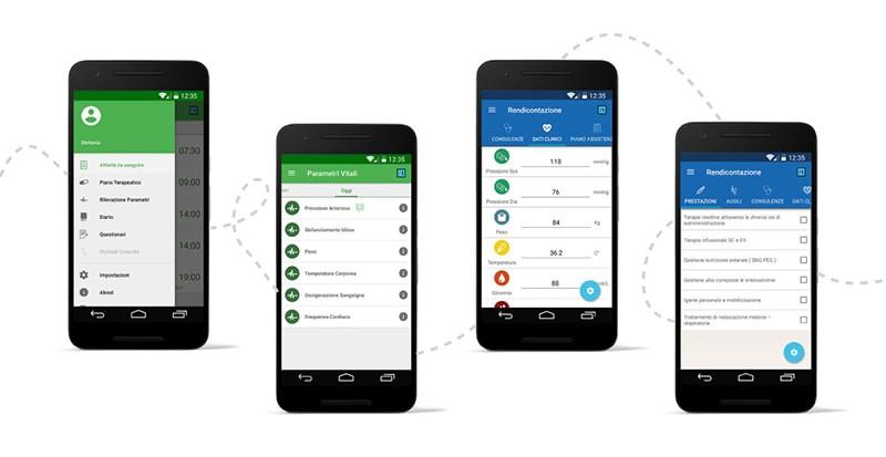 Connected care Salute a casa - Smarthealth - app per gli assistiti e per gli operatori