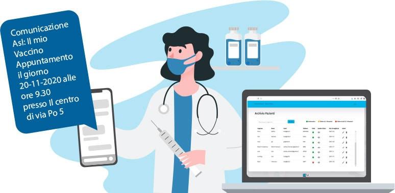 gestire vaccinazioni via app: soluzione multicanale