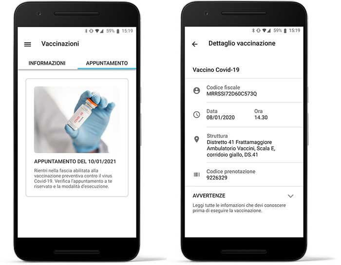 Sistema di Digitalizzazione campagne vaccinali Covid-19: app per il cittadino
