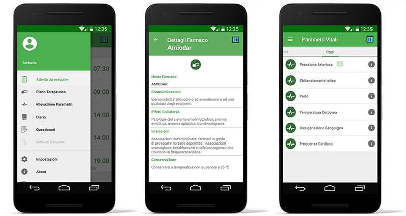 App di Telemonitoraggio clinico domiciliare ad uso del paziente