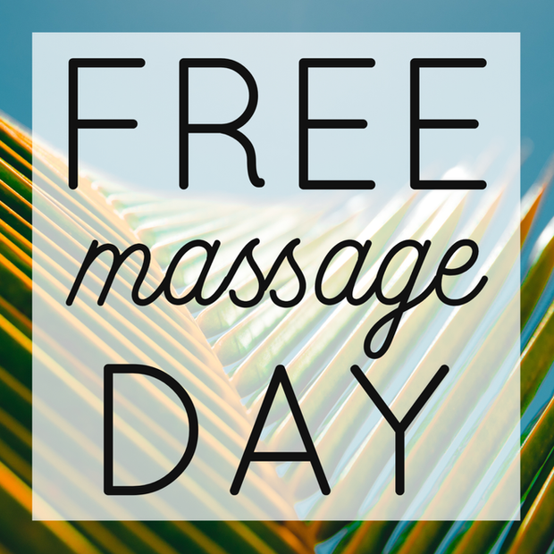 First Thursdays are FREE MASSAGE DAY