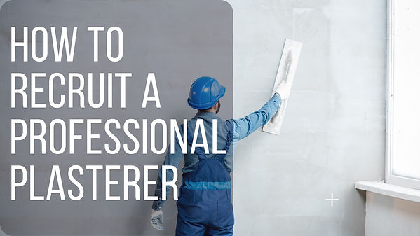 professional plasterer