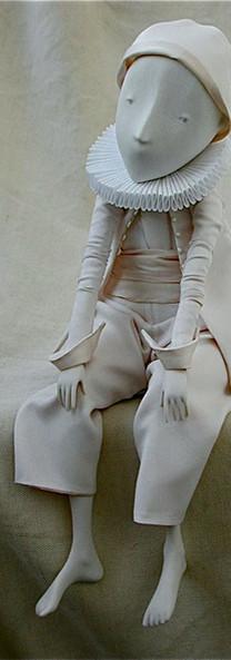 Happy Pierrot.Porcelain Story by Inga Ivashchenko