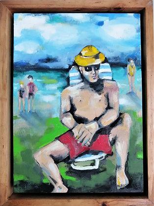 'Sondagmiddag' - Oil on canvas.