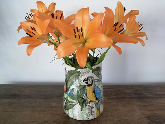 Parrot vase