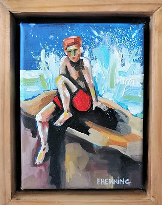 'Mosselbaai' - Oil on canvas.