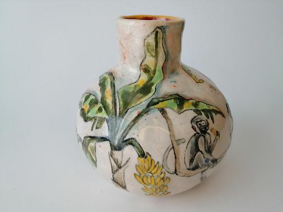 Small ceramic Monkey Vase