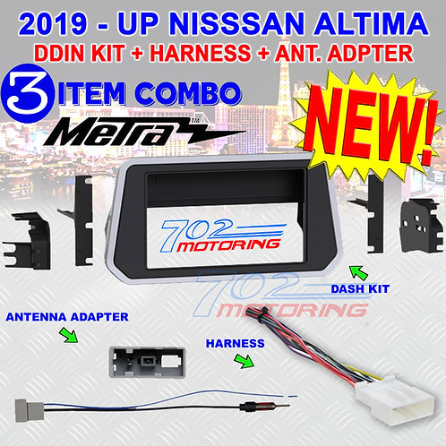METRA 95-7637 KIT FOR 2019 - UP NISSAN ALTIMA DDIN + HARNESS + ANTENNA ADAPTER