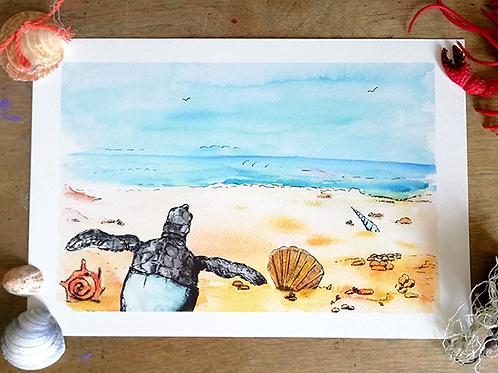 Limited Edition Print – Beach scene