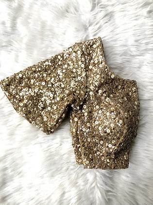 Gold allover sequin blouse