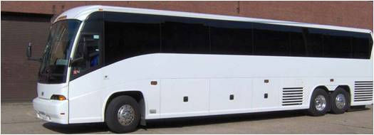 Tour Bus Repaired and Painted