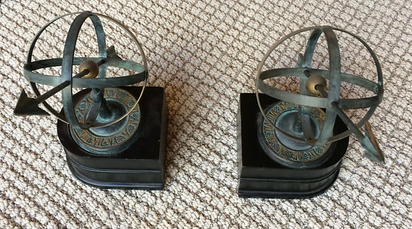 20th century Bookends - Armillary