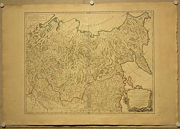 Partie Orientale De L'Empire De Russie En Asie, 1755