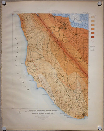 1908 EQIC map of the intensity of the 1906 Earthquake