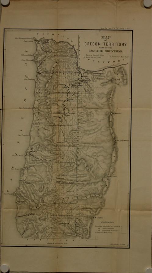 Oregon Territory 1855 Old Maps Schein Schein Antique Maps