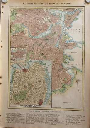 1927 School map of Boston, Mass, by Collins