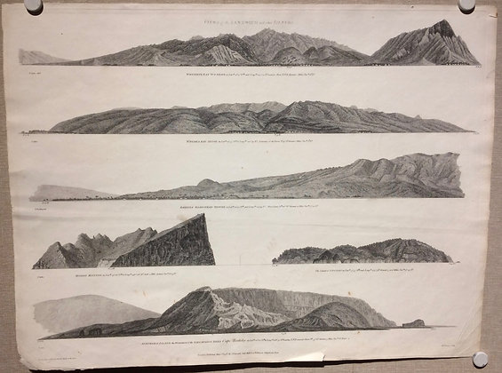 1798 View of Pacific Island : Hawaii & Galapagos by La Perous