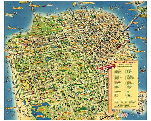 San Francisco Don Bloodgood (offset lithograph)
