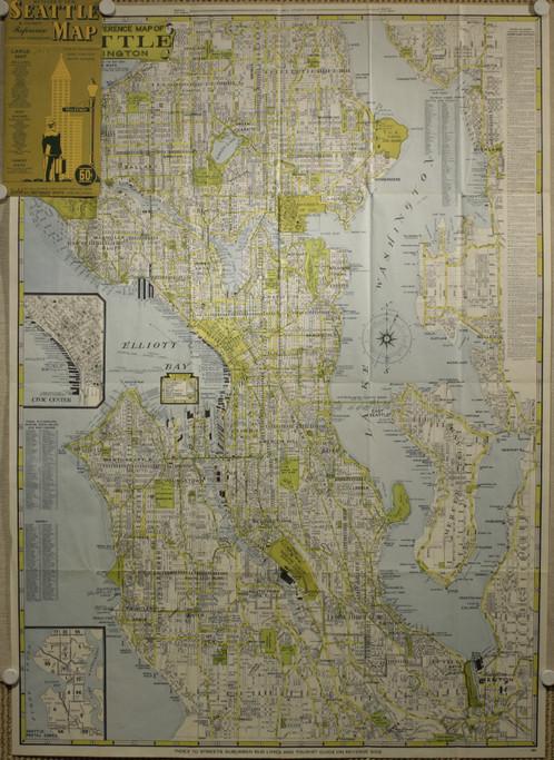 Seattle Old Maps Schein Schein Antique Maps Prints - The old map company