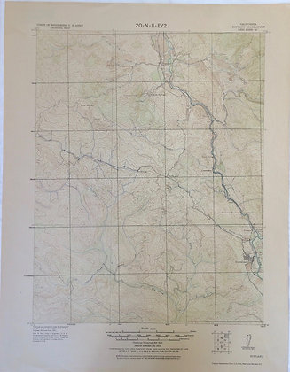 1922 Army Corps of Engineers map of Hopland , ca and vicinity