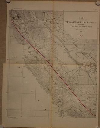 California Coast and San Andreas Rift, 1908