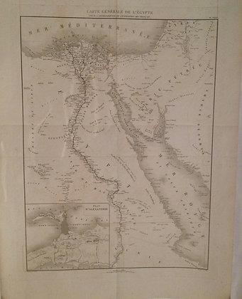 1830 Map of Egypt by Arrowsmith in steel engraving