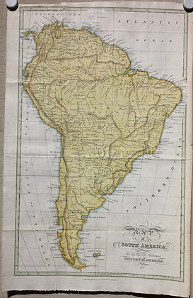 1821 South America w/ hand color