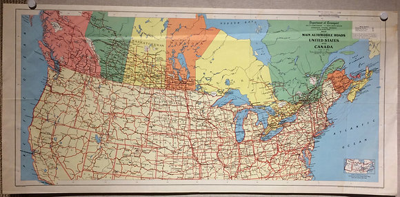 1950 Roads Between US & Canada by the Department of Transport