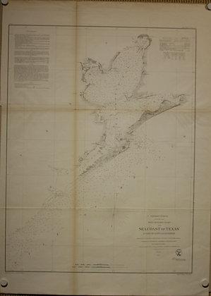 Galveston Bay Chart Texas, 1856