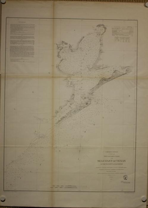 Galveston Bay Chart Texas 1856