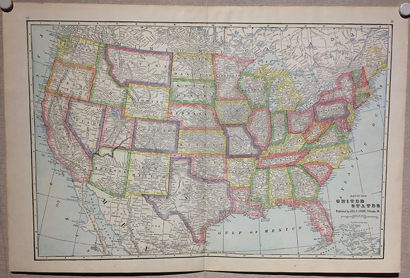 1903 Cram's Map of the United States