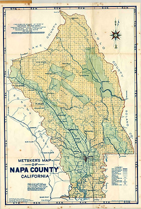 1948 Metsker's Napa County (in-house reproduction)
