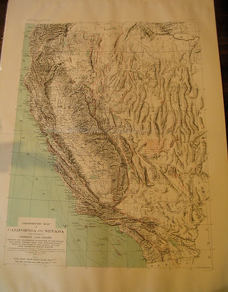 1908 EQIC California Earthquake thrust and faults Map